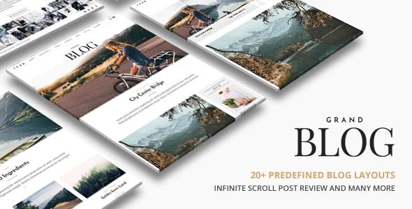 Grand Blog | Responsive Blog Theme - Personal Blog / Magazine