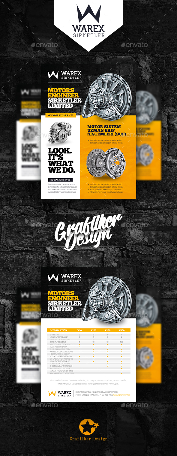 GraphicRiver Technical Data Product Flyer Templates 20243595