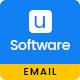 Unique - Software Email Template PSD - GraphicRiver Item for Sale