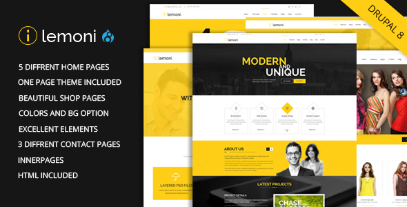Image of Lemoni - Multipurpose Drupal 8 Theme