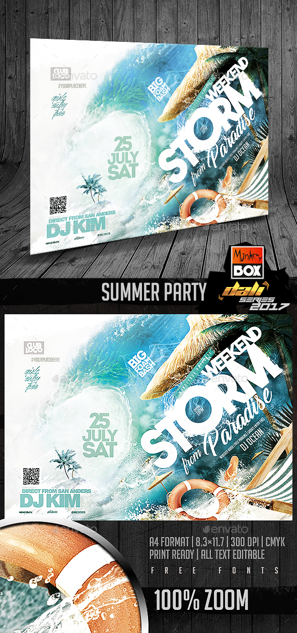 Summer Party - Flyers Print Templates