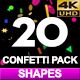 20 Confetti Different Shapes 4K - VideoHive Item for Sale