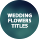 Wedding Titles Flowers - VideoHive Item for Sale