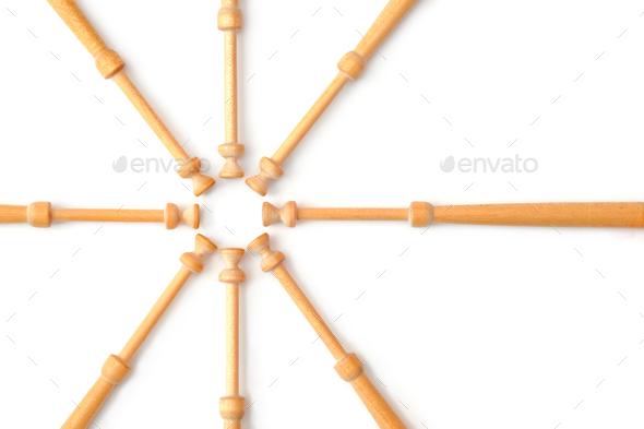 bobbin spindles - Stock Photo - Images