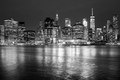 Black and white New York City skyline at night, USA - PhotoDune Item for Sale