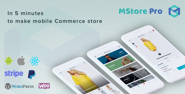 MStore Pro - Complete React Native template for e-commerce nulled free download