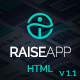 RaiseApp - UI Kit & Website Landing Page Template Nulled