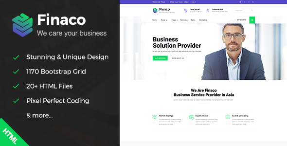Fianco - Business Consulting and Professional Services HTML Template