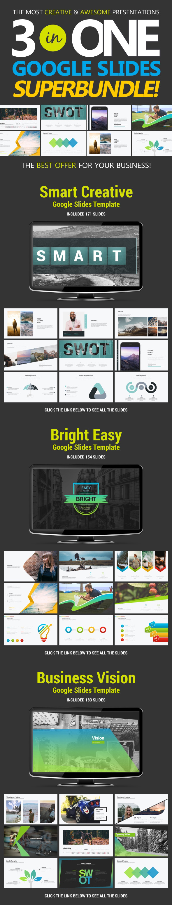 Business Bundle vol.1 - Google Slides Presentation Templates