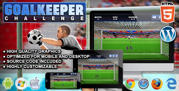 Goalkeeper Challenge - HTML5 Sport Game - CodeCanyon Item for Sale