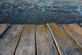 Photography of a wooden platform over the swamp
