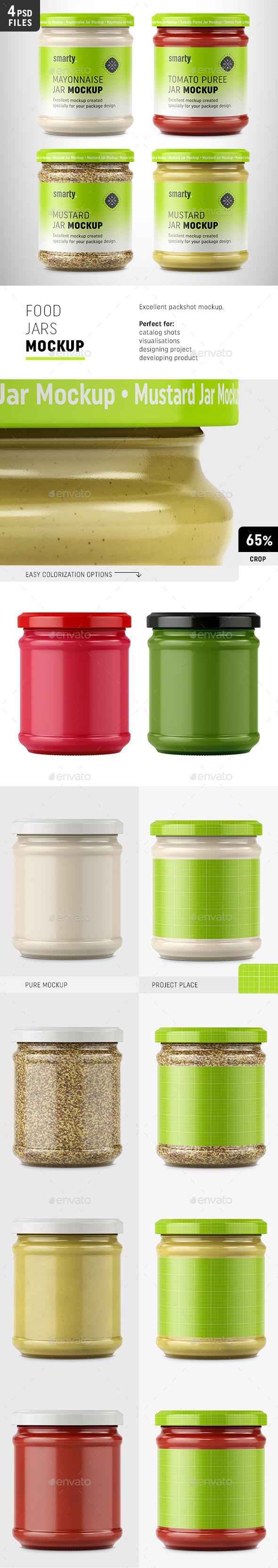 Food Jar Mockups - Food and Drink Packaging