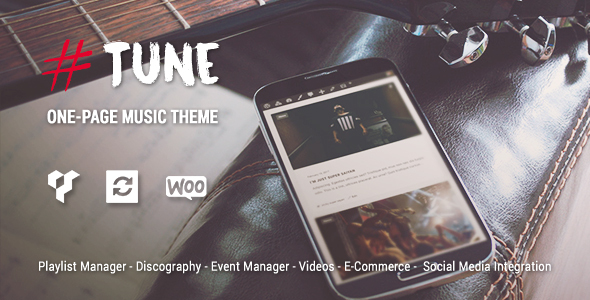 Tune – Multi-Concept One-Page Music WordPress Theme (Music and Bands) images