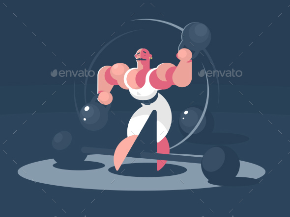 Circus Athlete Strongman - People Characters
