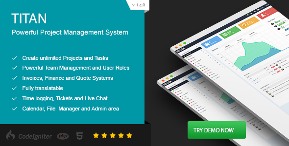 TITAN - Project Management System - CodeCanyon Item for Sale