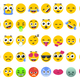 Emoji Set of Isolated on White Vector Emoticons Stickers - GraphicRiver Item for Sale