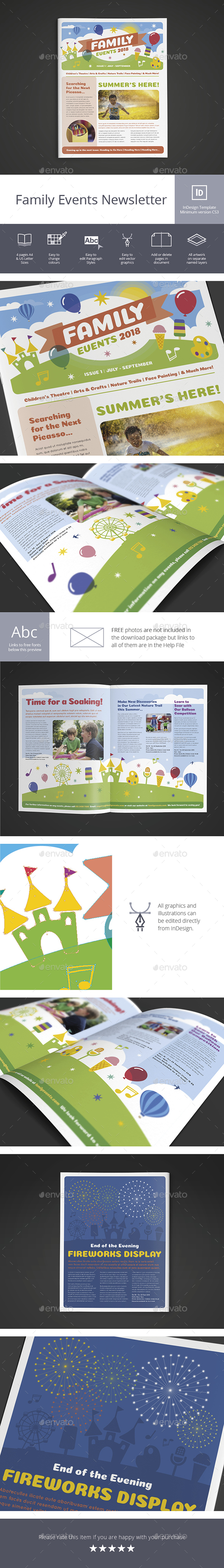 Family Events Newsletter - Newsletters Print Templates
