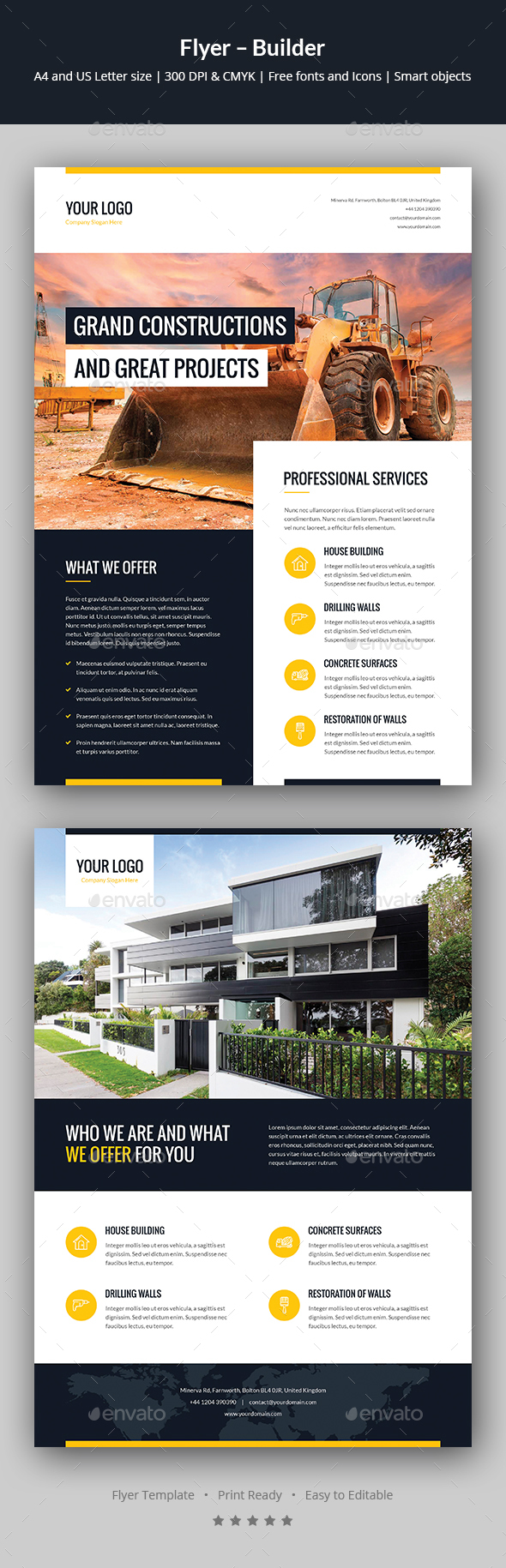 Flyer – Builder - Corporate Flyers