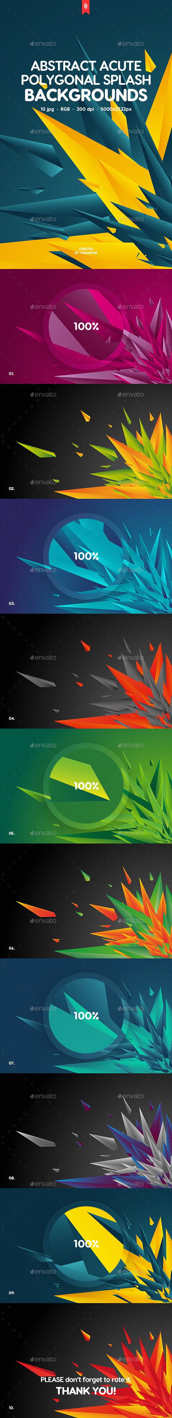 GraphicRiver Acute Polygonal Splash Backgrounds 20244660