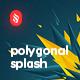 Acute Polygonal Splash Backgrounds - GraphicRiver Item for Sale