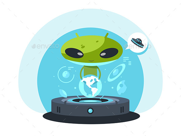 GraphicRiver Alienand the Planet Earth 20244669
