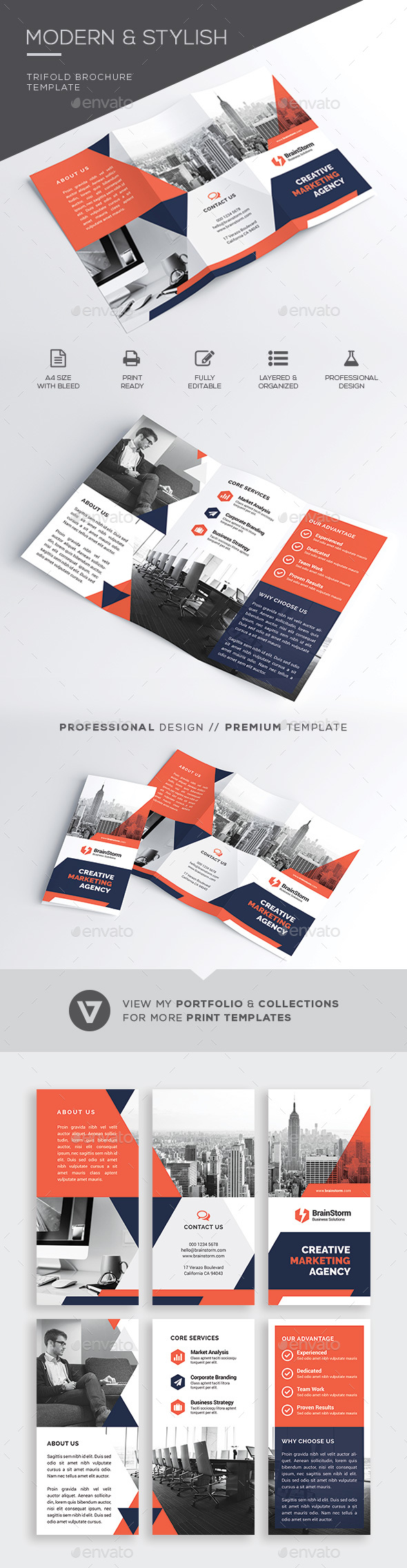 Brochure can insert business card for Brochure insert template