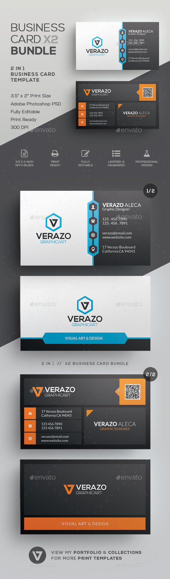 Business Card Bundle 37 - Corporate Business Cards