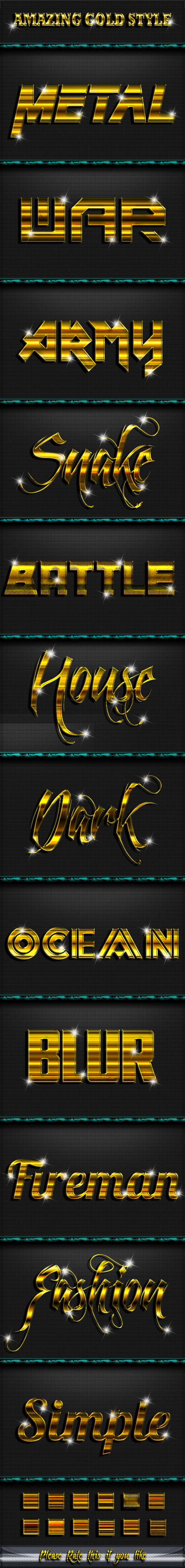 Gold Style Text Effect V. 2 - Styles Photoshop