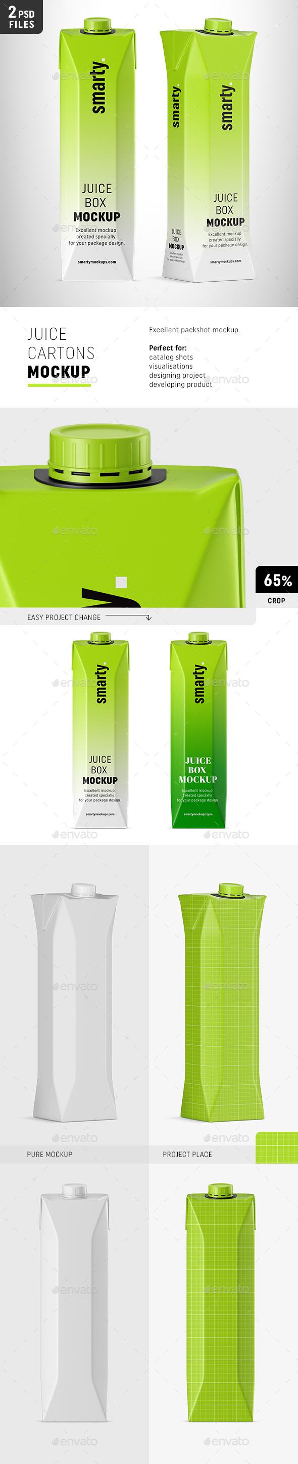 Carton Juice Mockups - Food and Drink Packaging