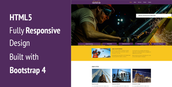 Construction – Responsive HTML5 Template (Creative) images