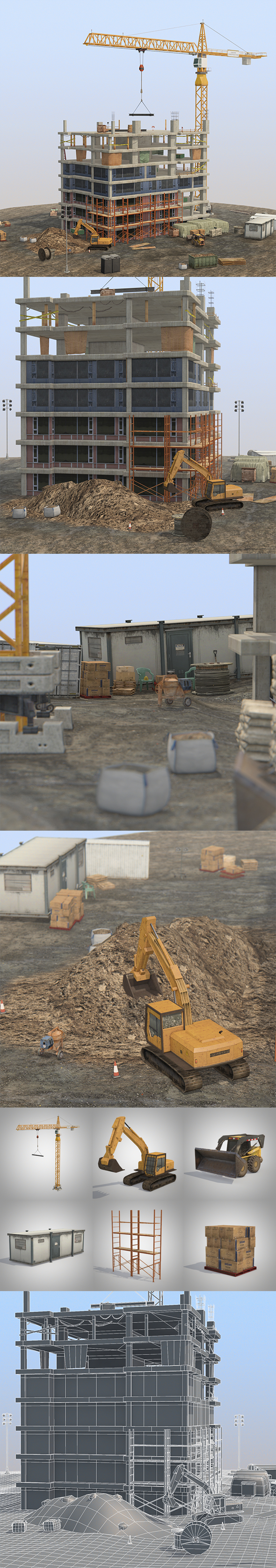 Under Construction Scene Lite Pack - 3DOcean Item for Sale