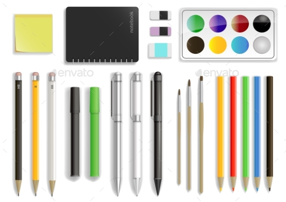 Set of Stationery in Vector - Miscellaneous Vectors