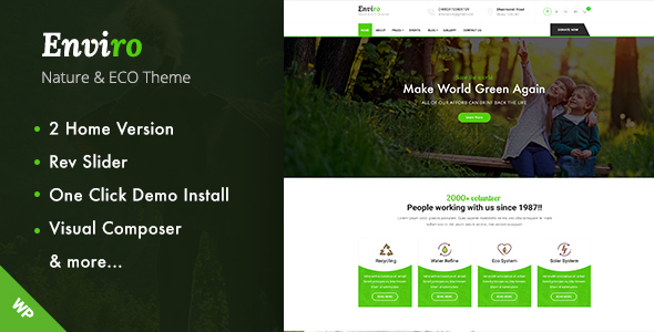 ThemeForest Enviro Environment WordPress Theme 20245081