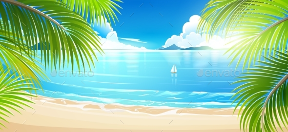 GraphicRiver Tropical Island Vector 20245158