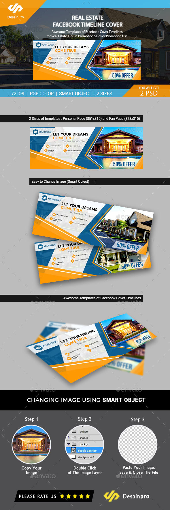Real Estate Facebook Cover Templates - AR - Facebook Timeline Covers Social Media