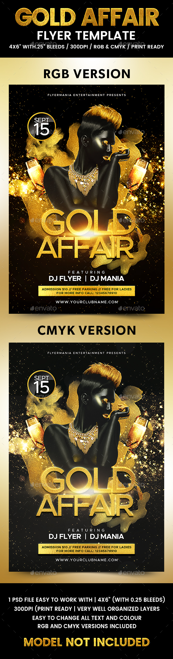 Gold Affair Flyer Template - Events Flyers