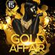 Gold Affair Flyer Template