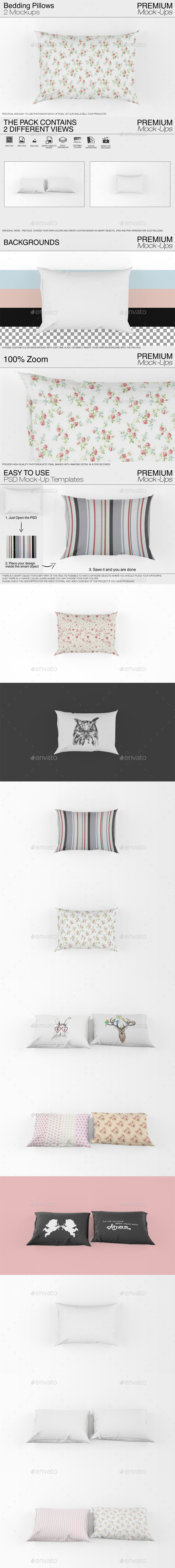 Bedding Pillows Mockup - Print Product Mock-Ups