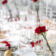 Formal dinner table setting with red roses - PhotoDune Item for Sale