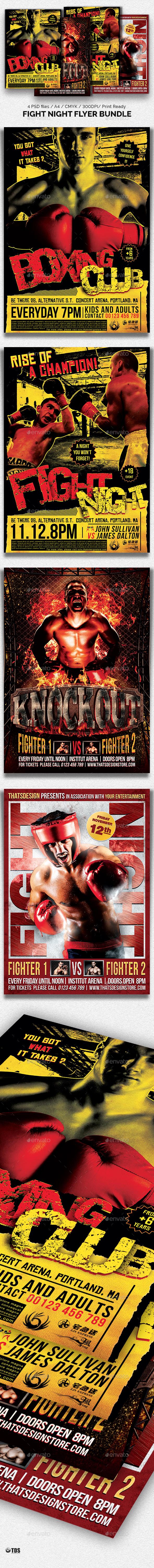 Fight Night Flyer Bundle - Sports Events