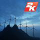 Wind Energy Tribune Silhouette - VideoHive Item for Sale