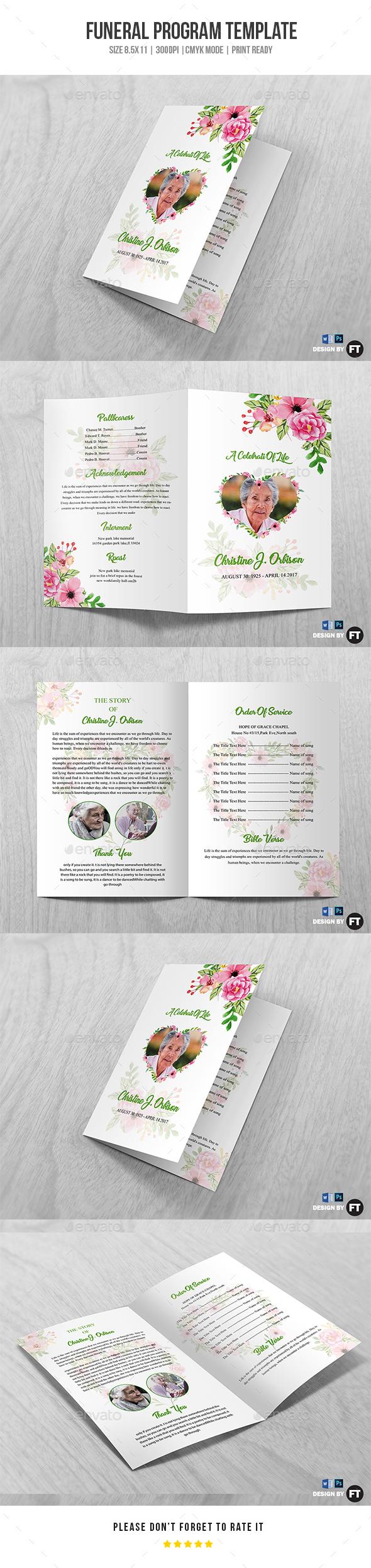 GraphicRiver Funeral Program Template Vol 34 20245566