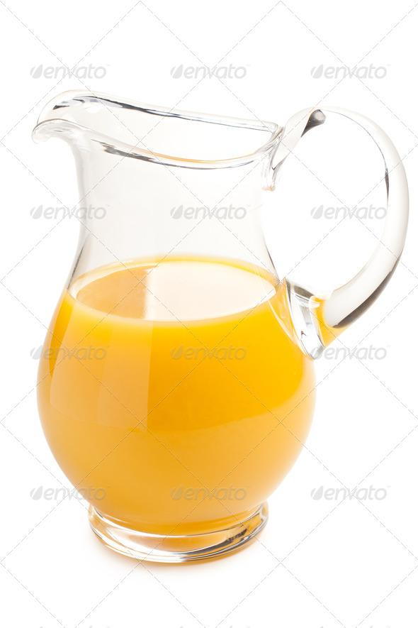 orange juice in pitcher - Stock Photo - Images