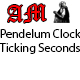 Pendulum Clock Seconds Ticking