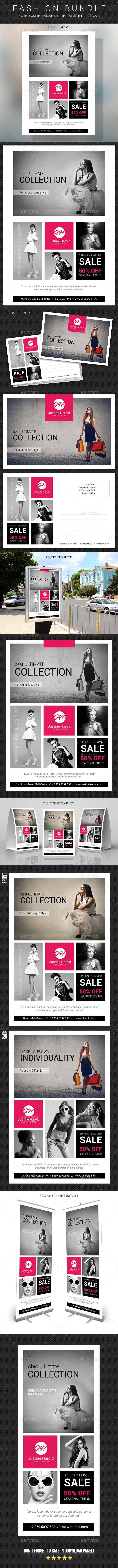 Fashion Templates Bundle - Signage Print Templates