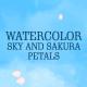 Watercolor Sky and Sakura Petals - VideoHive Item for Sale