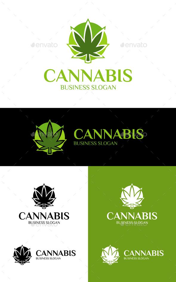 GraphicRiver Cannabis Marijuana Logo 20245876