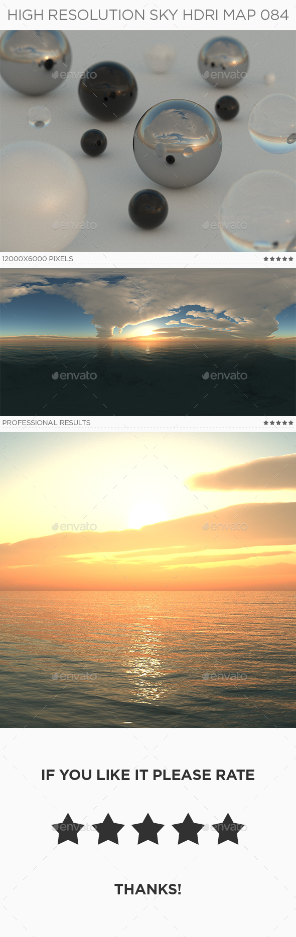 High Resolution Sky HDRi Map 084 - 3DOcean Item for Sale