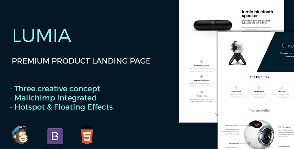 Lumia - The Ultimate Product Landing Page