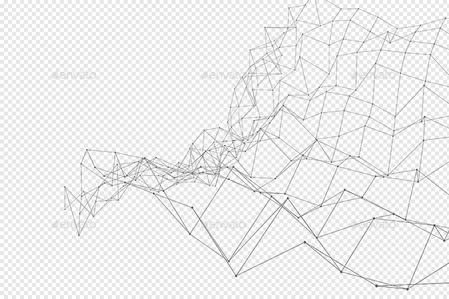 Transparent Outline Polygon with Connected Dots Backgrounds